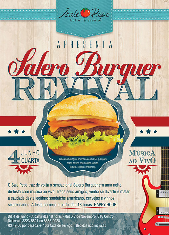 Cartaz Salero Burguer Revival